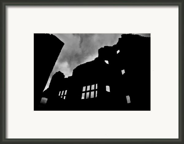 Ludlow Storm Threatening Skies Over The Ruins Of A Castle Spooky Halloween Framed Print By Andy Smy
