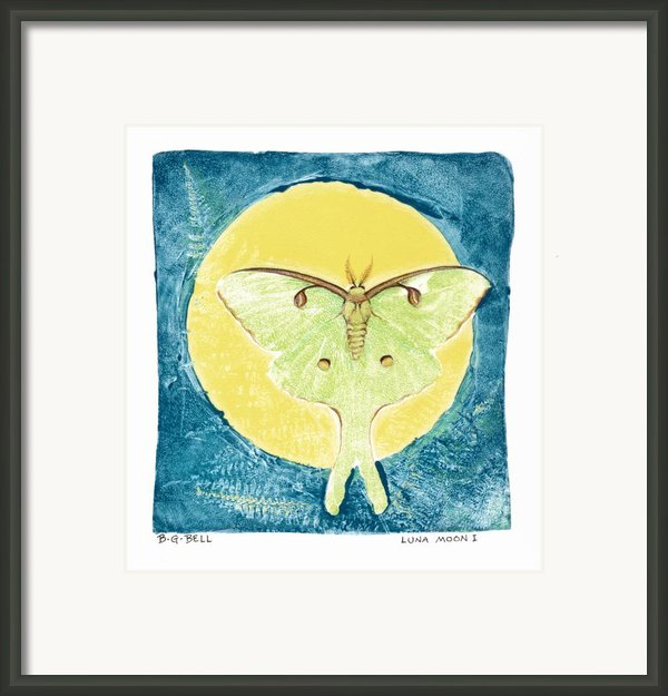 Luna Moon I Framed Print By Betsy Gray