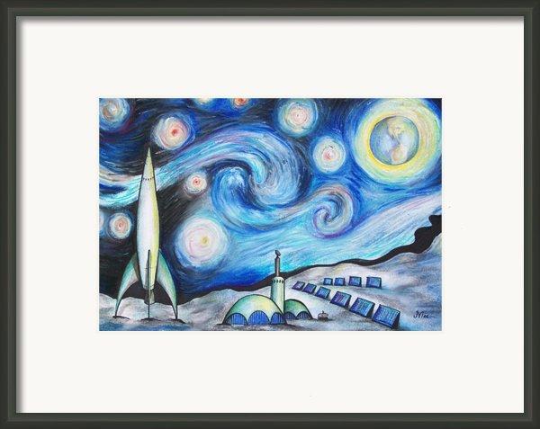Lunar Starry Night Framed Print By Jerry Mac