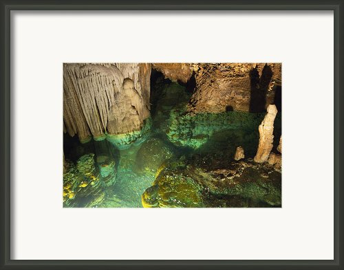 Luray Caverns - Wishing Well - Virginia Framed Print By Brendan Reals