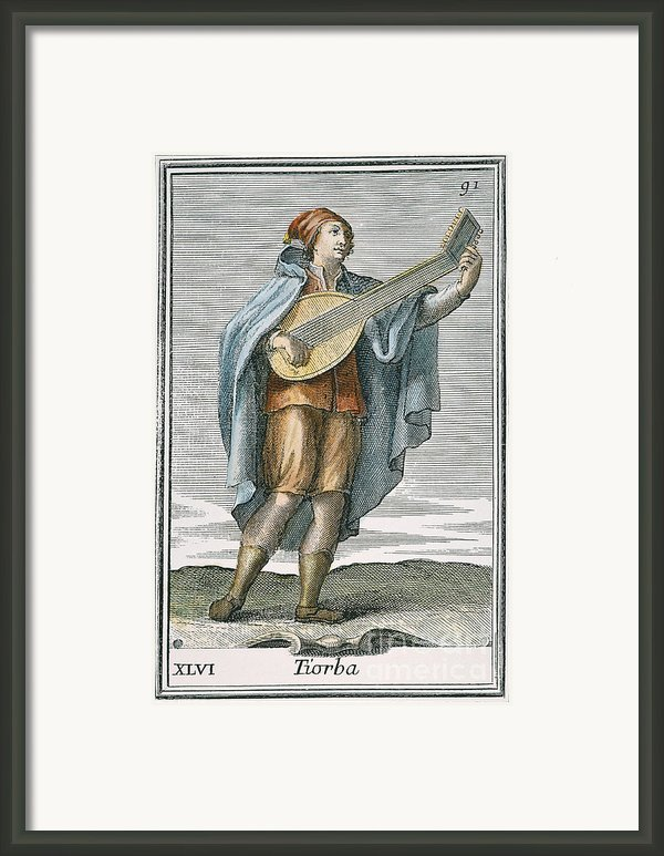 Lute, 1723 Framed Print By Granger