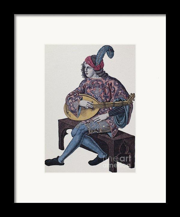 Lute Player, 1839 Framed Print By Granger