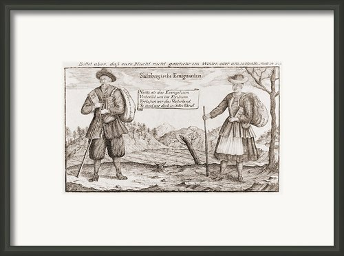 Lutheran Religious Refugees, Fleeing Framed Print By Everett
