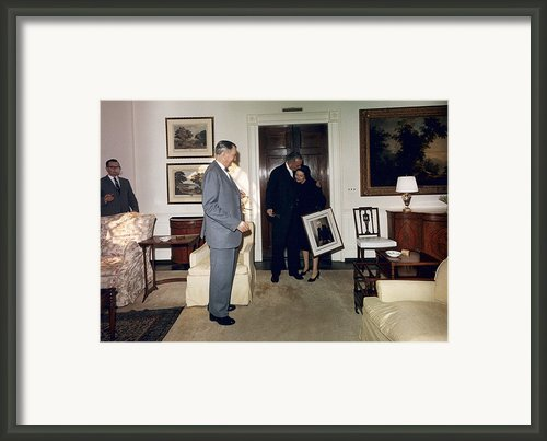 Lyndon And Lady Bird Johnson Moving Framed Print By Everett