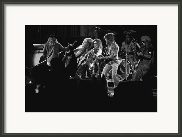 Lynyrd Skynyrd In Spokane Framed Print By Ben Upham