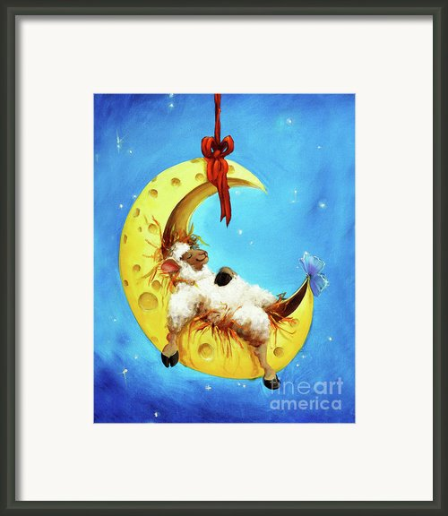 Maaah In The Moon Framed Print By Conni Togel