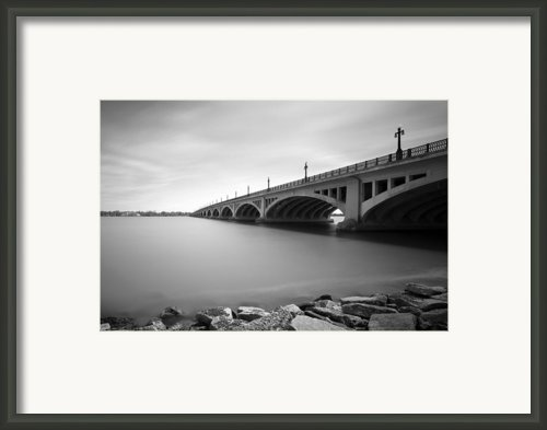 Macarthur Bridge To Belle Isle Detroit Michigan Framed Print By Gordon Dean Ii
