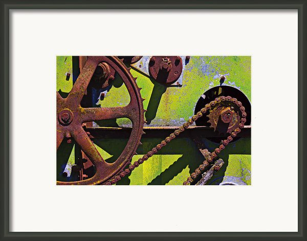 Machinery Gears  Framed Print By Garry Gay