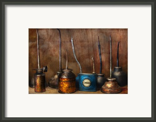 Machinist - Tools - Lubrication Dispensers  Framed Print By Mike Savad