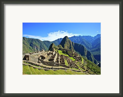 Machu Picchu Framed Print By Kelly Cheng Travel Photography