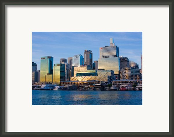 Macquarie Sunset Framed Print By Charles Warren
