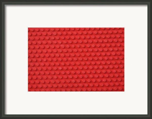 Macro Ping Pong Paddle Texture Framed Print By Nic Taylor