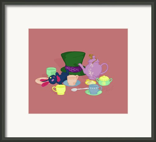 Mad Tea Party Framed Print By K Martinez