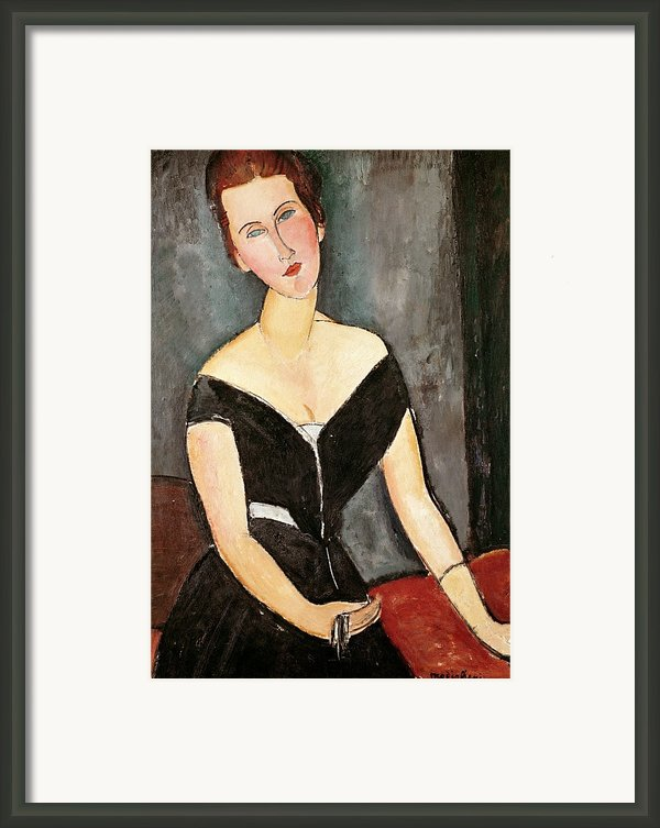Madame G Van Muyden Framed Print By Amedeo Modigliani