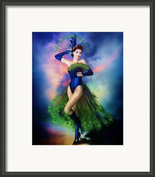 Madame Peacock Framed Print By Karen Koski