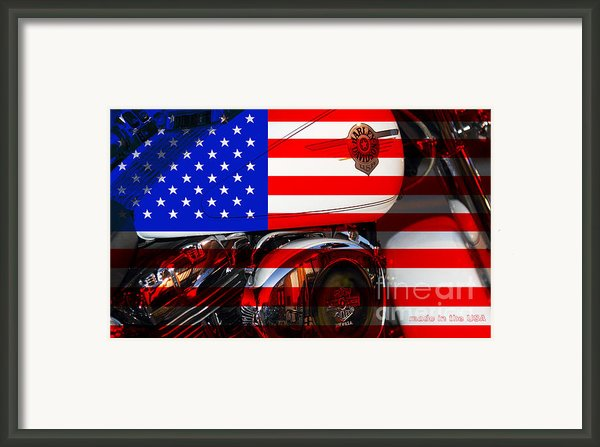 Made In The Usa . Harley-davidson . 7d12759 Framed Print By Wingsdomain Art And Photography