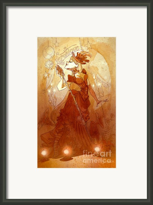 Mademoiselle Veronique Framed Print By Brian Kesinger
