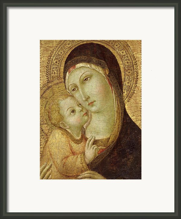 Madonna And Child Framed Print By Ansano Di Pietro Di Mencio