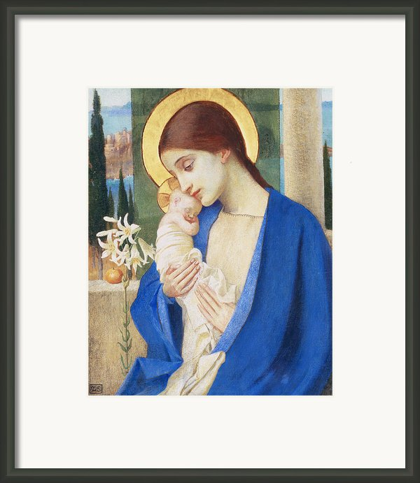 Madonna And Child Framed Print By Marianne Stokes