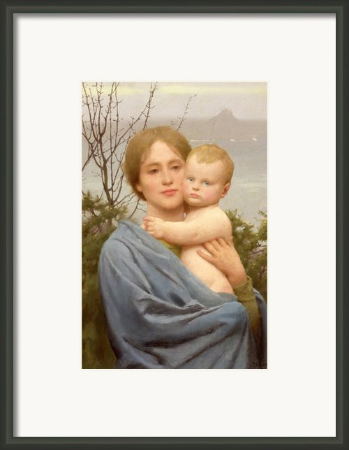 Madonna Of The Mount  Framed Print By Thomas Cooper Gotch