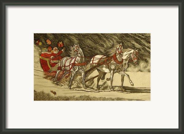 Magical Christmas Framed Print By Melita Safran