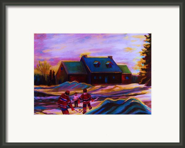 Magical Day For Hockey Framed Print By Carole Spandau