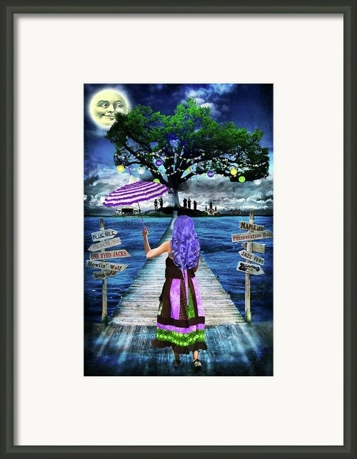 Magical New Orleans Framed Print By Tammy Wetzel