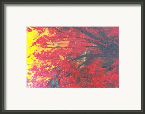 Magical Red Tree Framed Print By Shilpi Singh