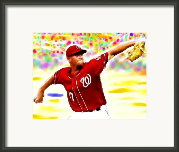 Magical Stephen Strasburg Framed Print By Paul Van Scott