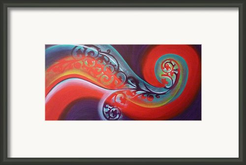 Magical Wave Fire Framed Print By Reina Cottier