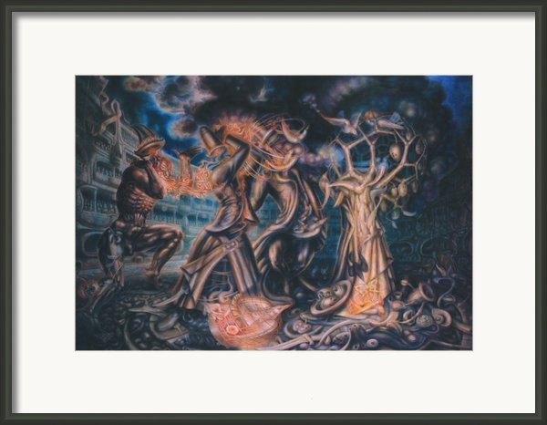 Magicians Competition Framed Print By De Es Schwertberger