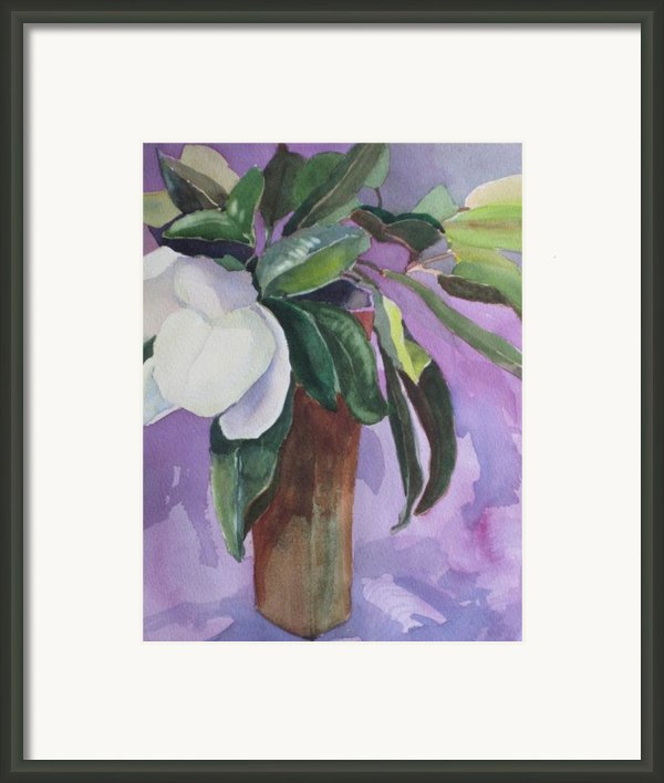 Magnolia Framed Print By Elizabeth Carr