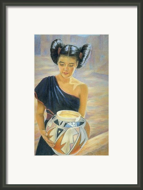 Maiden Of The Mesa Framed Print By Ann Peck