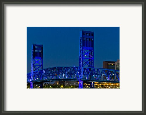 Main Street Bridge Jacksonville Framed Print By Debra And Dave Vanderlaan