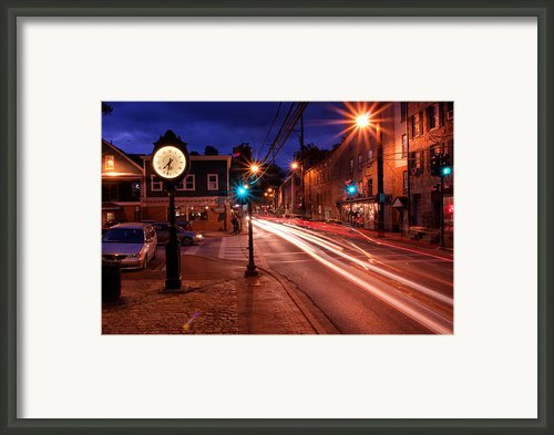 Main Street Traffic Framed Print By Kenneth Losurdo