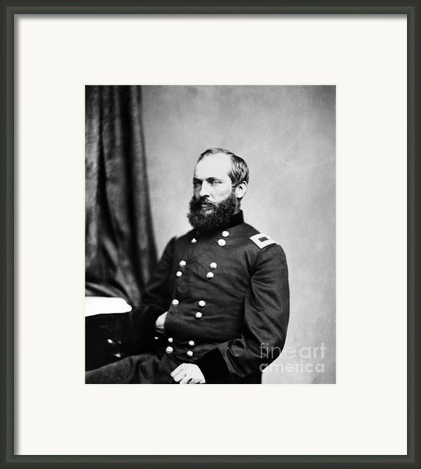 Major General Garfield, 20th American Framed Print By Chicago Historical Society
