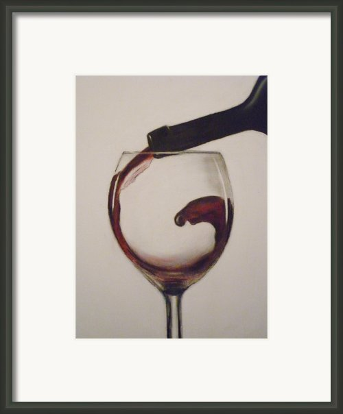 Make Mine A Red Wine Framed Print By Paul Horton