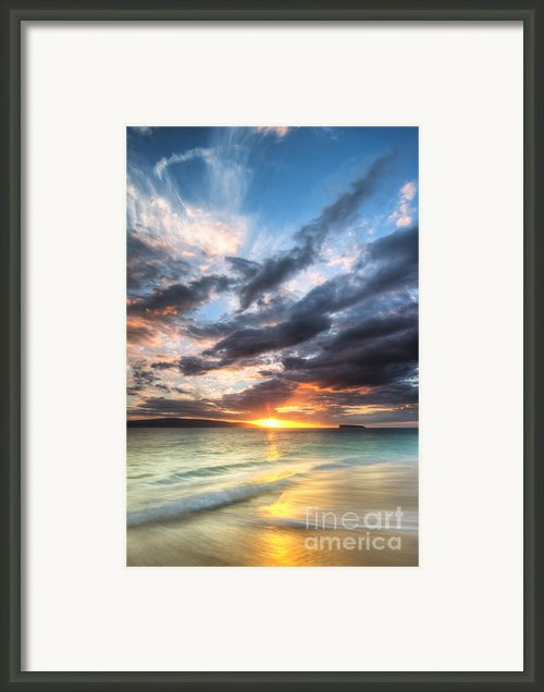 Makena Beach Maui Hawaii Sunset Framed Print By Dustin K Ryan
