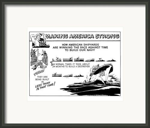Making America Strong Ww2 Cartoon Framed Print By War Is Hell Store