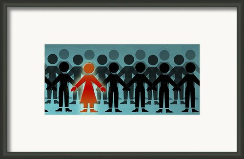 Male Dominated Society, Artwork Framed Print By Christian Darkin