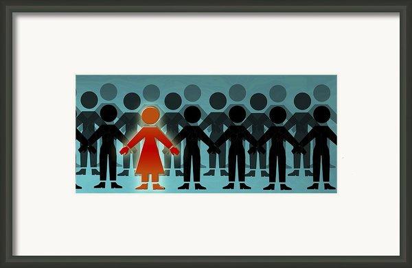 Male Dominated Society, Artwork Framed Print By Christian Darkin