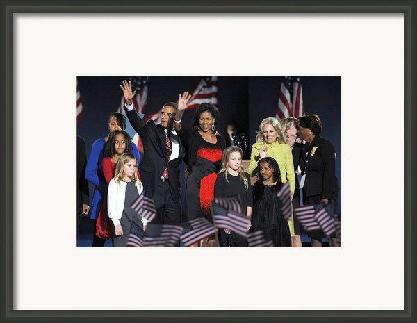 Malia Obama, U.s. President Elect Framed Print By Everett