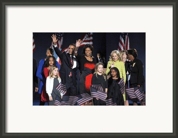 Malia Obama, U.s. President Elect Framed Print By Everett