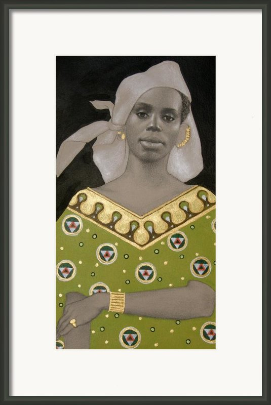 Malian Woman After Klimt Framed Print By Carla Nickerson