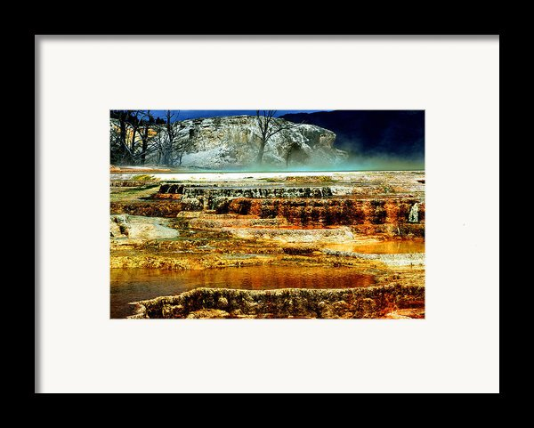 Mammoth Terrace - Yellowstone Framed Print By Ellen Heaverlo