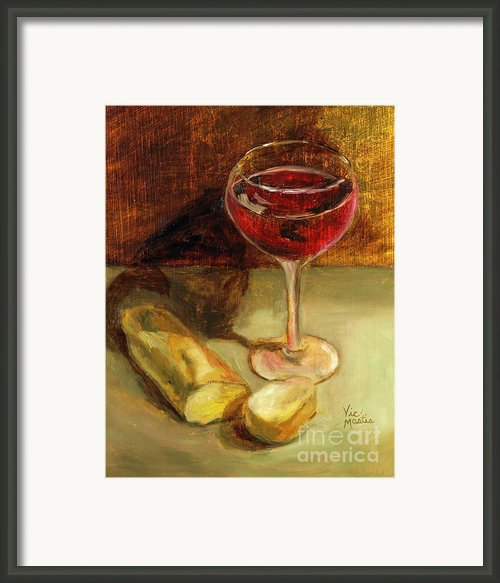 Man Cannot Live On Bread Alone Framed Print By Vic  Mastis