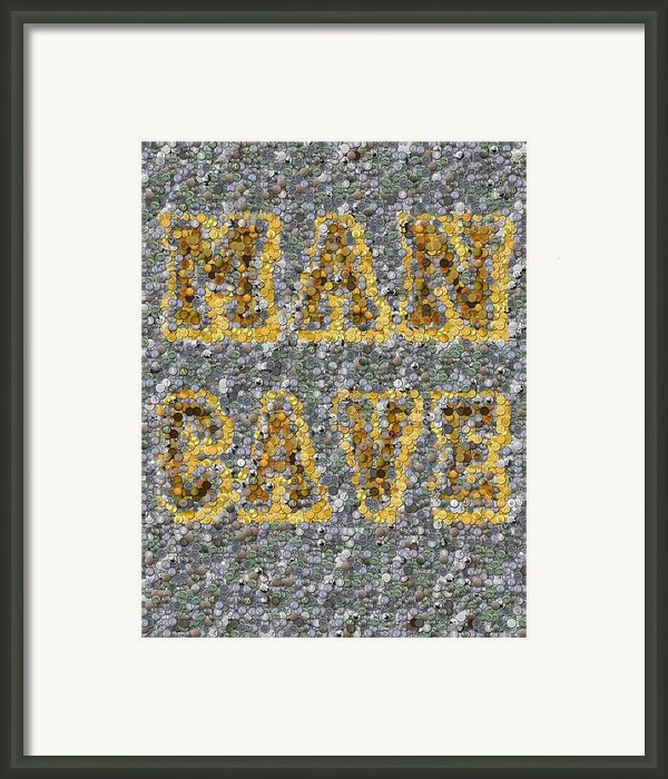 Man Cave Coin Mosaic Framed Print By Paul Van Scott