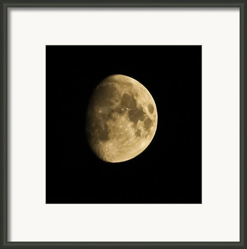 Man In The Moon Framed Print By Joshua Dwyer