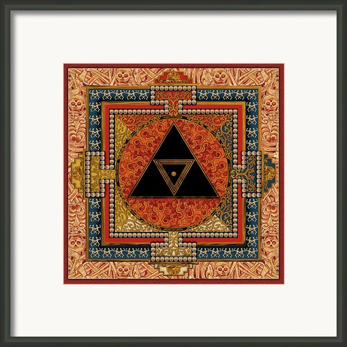 Mandala Kalichakre For Her Framed Print By Mark Myers