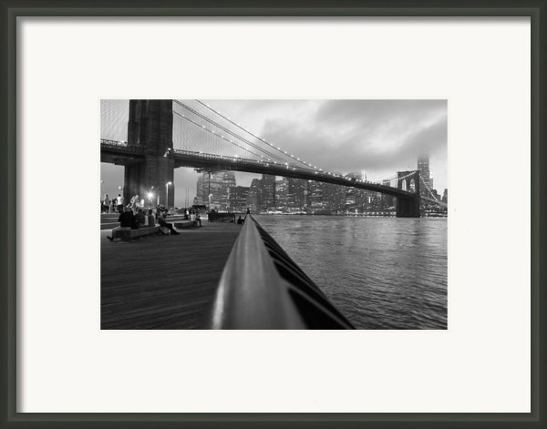 Manhattan Bridge Framed Print By Nina Mirhabibi